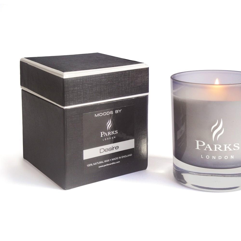 Sviečka s vôňou brezy a duba Parks Candles London Moods Black, 50 hodín horenia