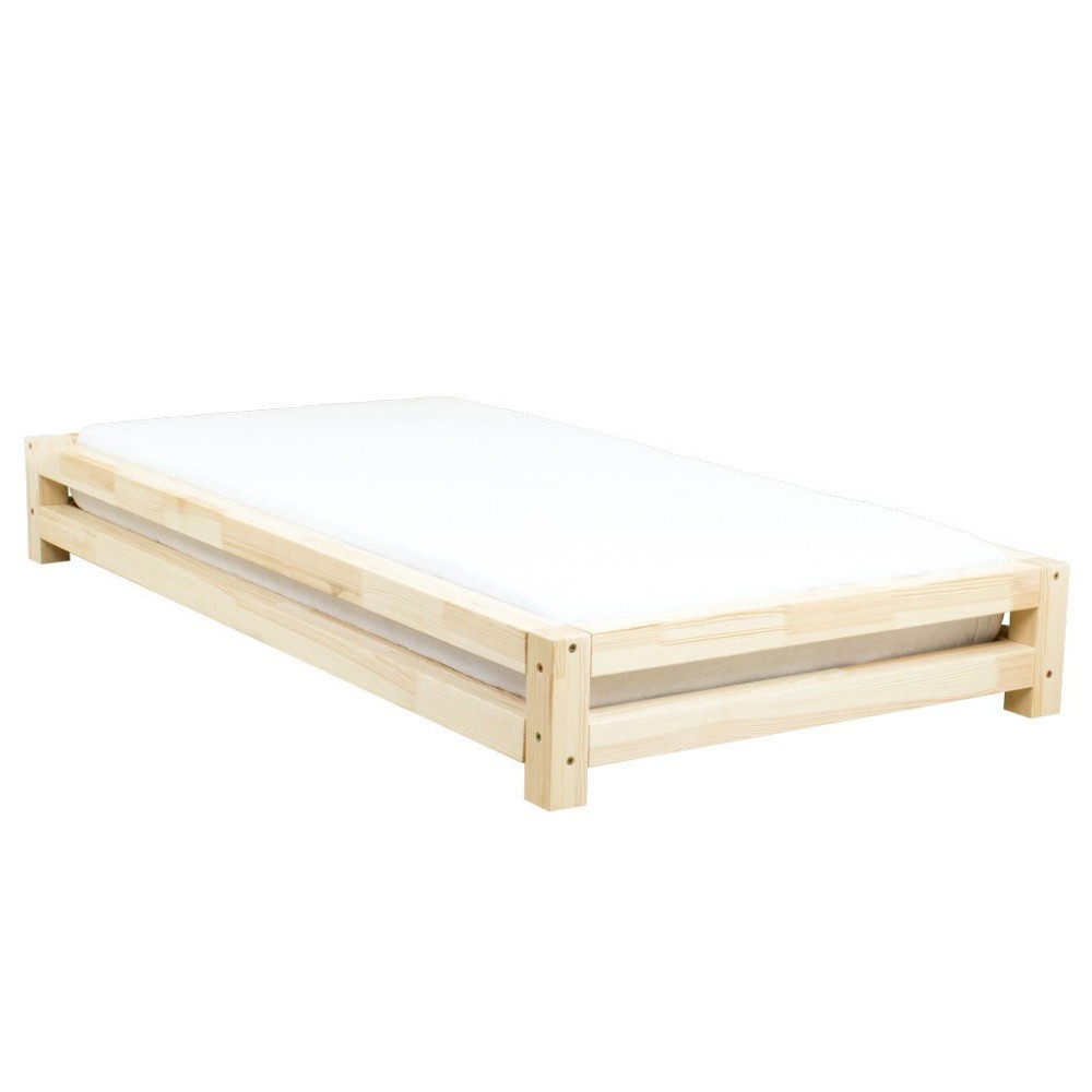 Jednolôžková posteľ zo smrekového dreva Benlemi JAPA Natural, 90 × 200 cm