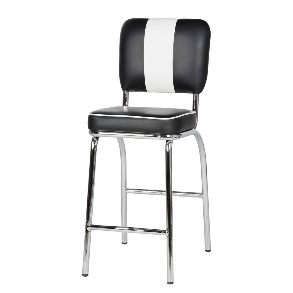 Bighome - Barová stolička dvojset OLVIS - čierna, biela