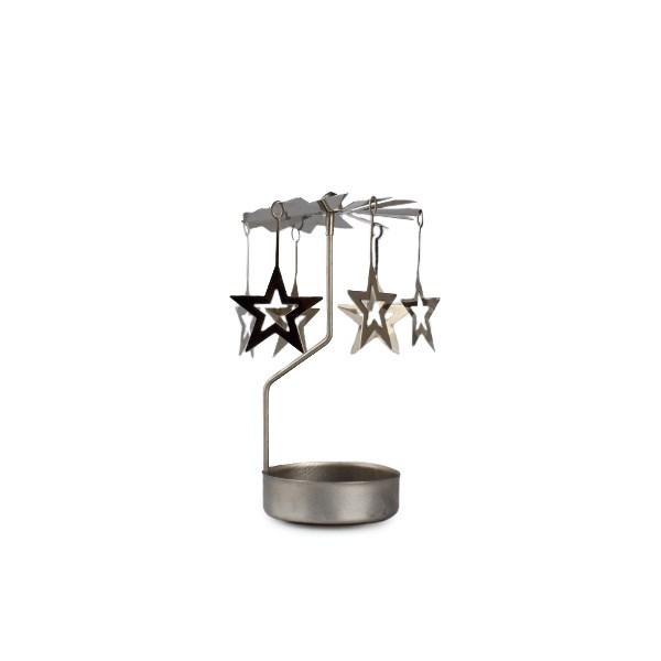 Kovové anjelské zvonenie s hviezdičkami, strieborná