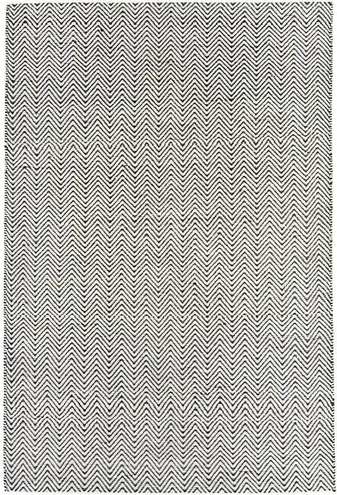 Ives koberec - čierna/biela