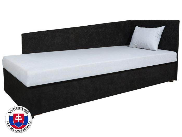 Jednolôžková posteľ (váľanda) 80 cm Edo 4 Lux (s pružinovým matracom) (P)