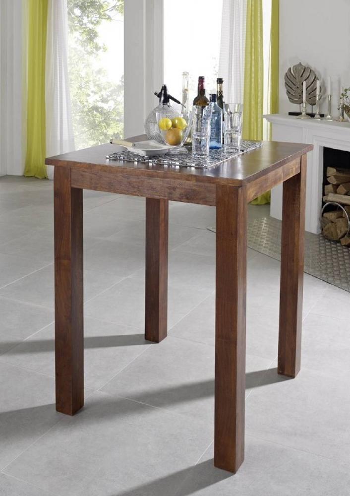 Bighome - CAMBRIDGE  Koloniálny barový stôl 85x85 masívna akácia