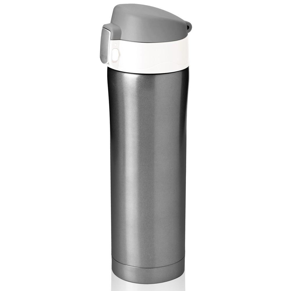 Sivo-biela termofľaša Diva Cup Smoke, 450 ml