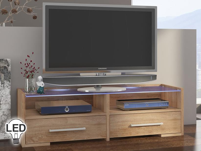 TV stolík/skrinka Semprio (sonoma svetlá)