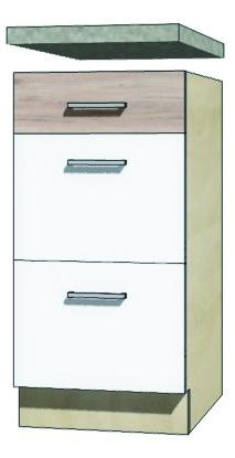 EKO - 8D dolná skrinka so zásuvkami 40cm