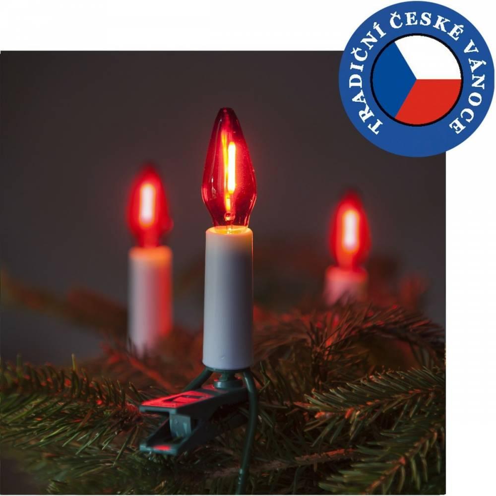 Súprava Felicia LED Filament červená SV-16, 16 žiaroviek