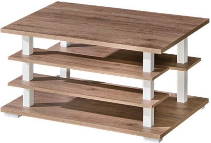 Konferenčný stolík, san reno / biela, ROVIN R - 10