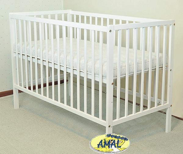 AMAL Detská postieľka MILA, biela, 120x60 cm