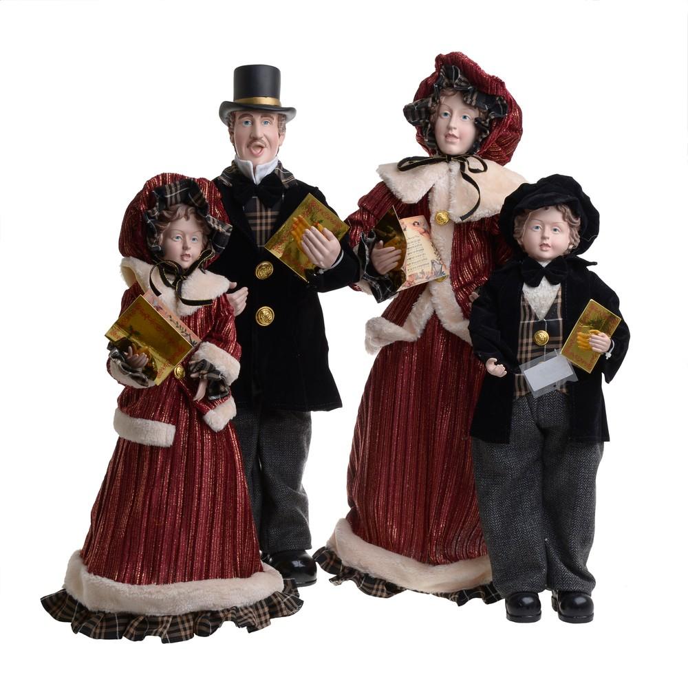 Vianočná látková dekorácia InArt Carolling Family