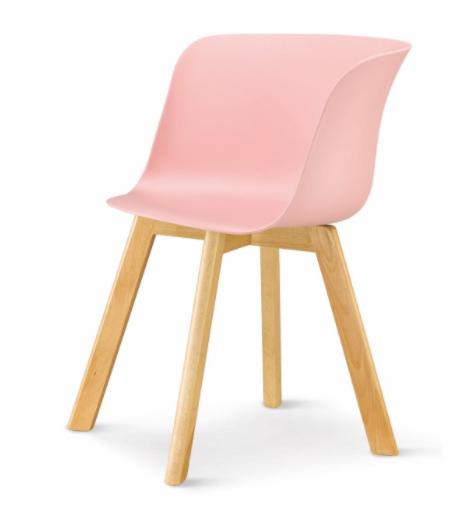 Stolička Levin   Farba: Ružová / buk
