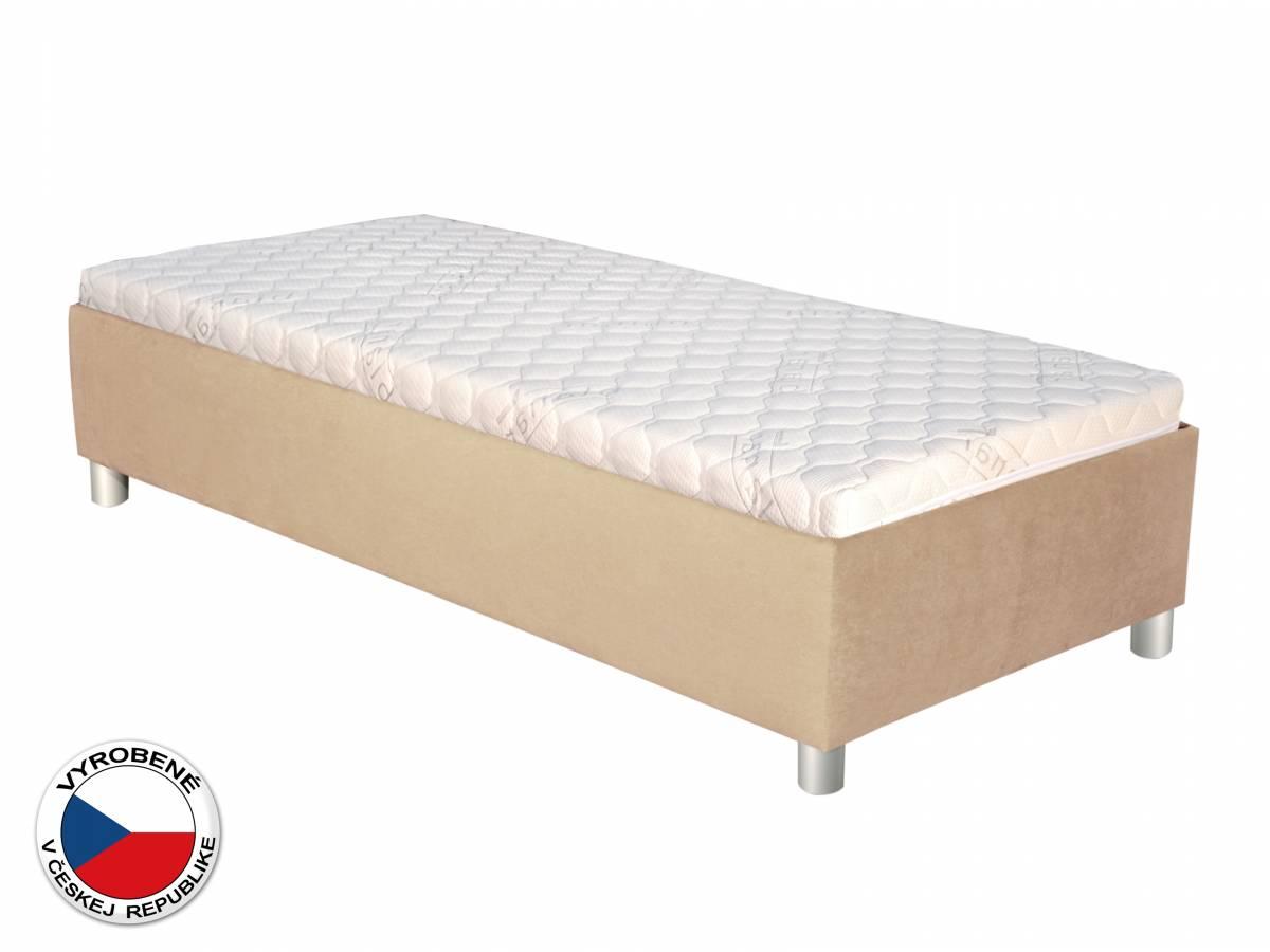 Jednolôžková posteľ 90 cm Blanár Neptun (béžová) (s roštom a matracom)