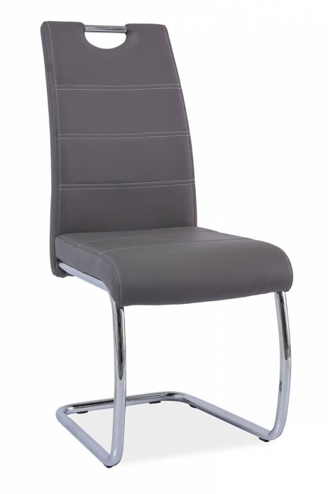 Jedálenská stolička HK-666, šedá