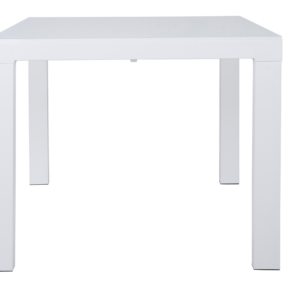 Biely rozkladací jedálenský stôl Canett Lissabon, malý