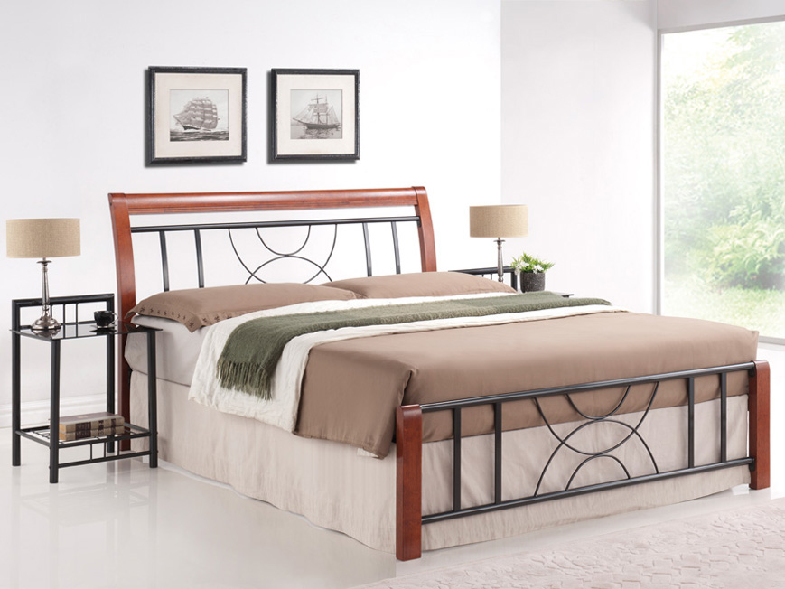 Manželská posteľ 180 cm Cortina B (s roštom)