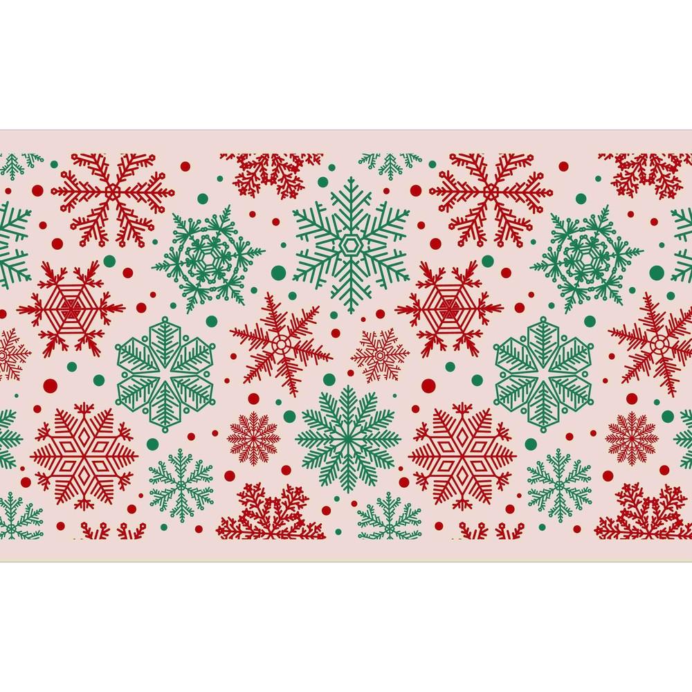 Kuchynský behúň Crido Consulting Beige Snowflake, dĺžka 100 cm