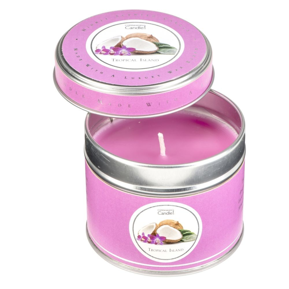 Aromatická sviečka v plechovke Copenhagen Candles Tropical Island, doba horenia 32 hodín