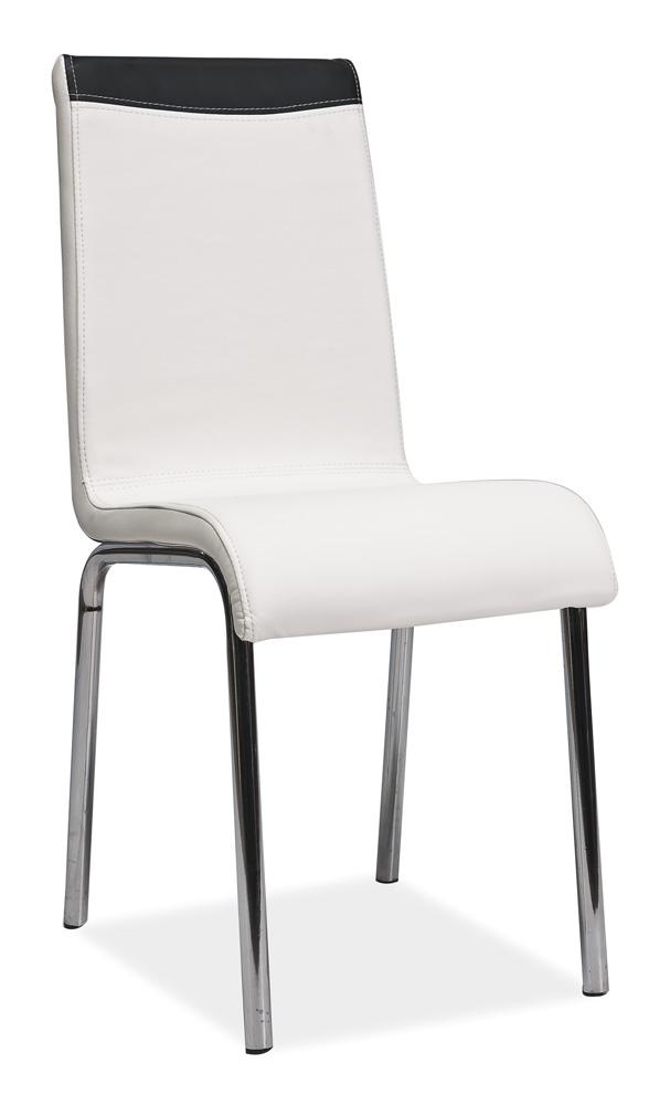 Jedálenská stolička H-161 biela + čierna