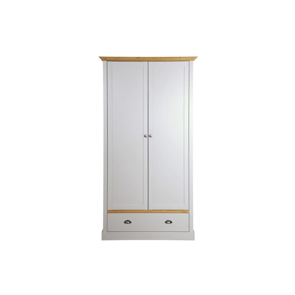 Sivo-biela šatníková skriňa Steens Sandringham, 192 × 104 cm