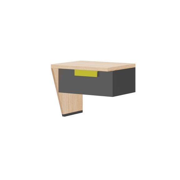 Nočný stolík v dubovom dekore Szynaka-Meble Wow, ľavá strana