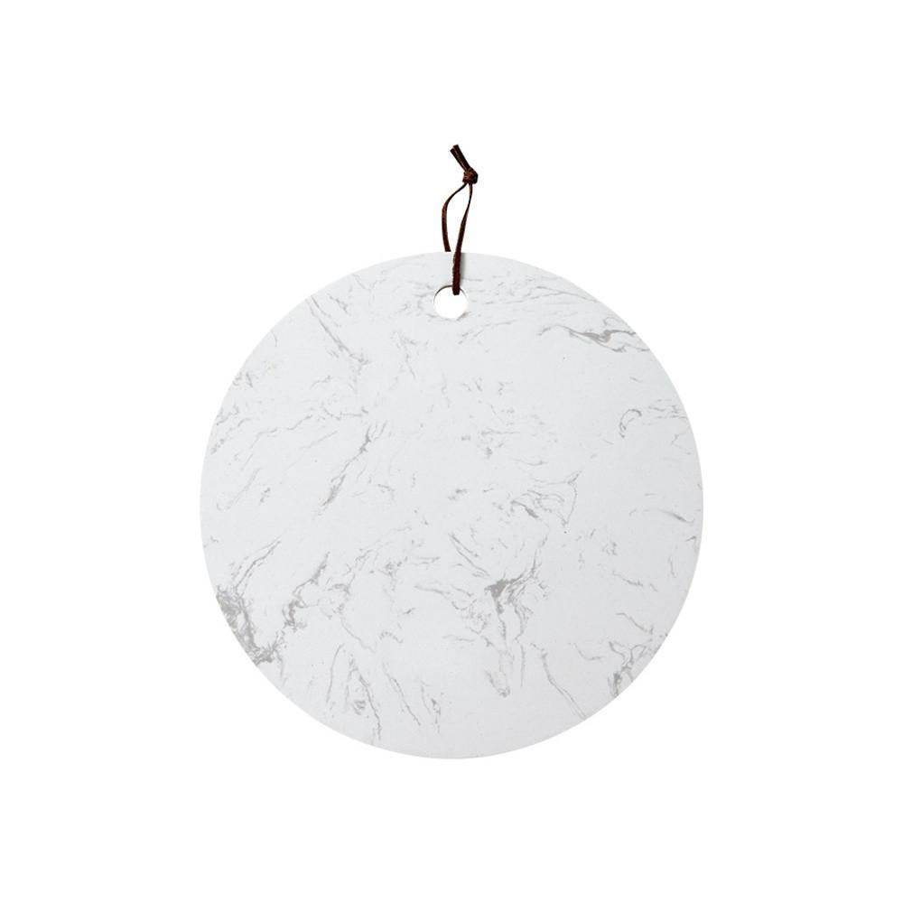Biela doska na servírovanie z kameňa Ladelle, ⌀ 30 cm