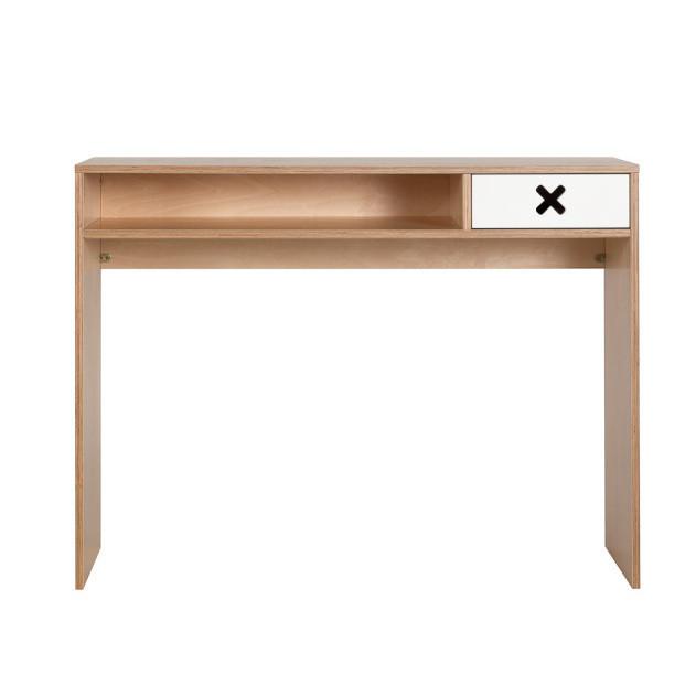 Biely pracovný stôl s jednou zásuvkou Durbas Style