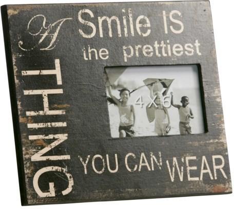 Fotorámik A SMILE IS THE ... - tmavo hnedá