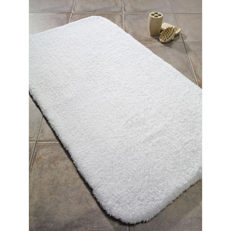 Biela predložka do kúpeľne Confetti Bathmats Organic 1600, 60x100cm