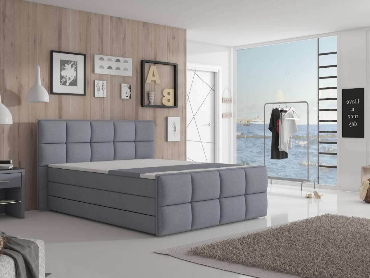 Manželská posteľ Boxspring 180 cm Arvada (s matracmi a úl. priestorom)