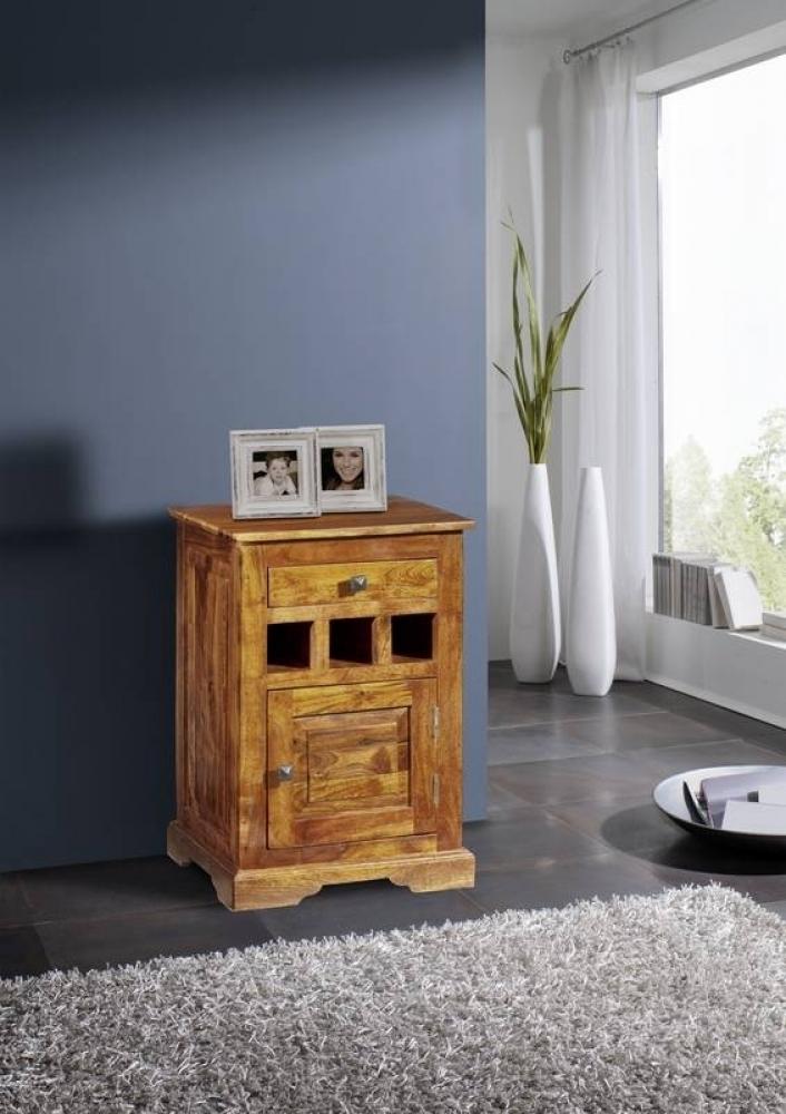 OXFORD HONIG #268 Kolonial nočný stolík, masívny agátový nábytok, medová