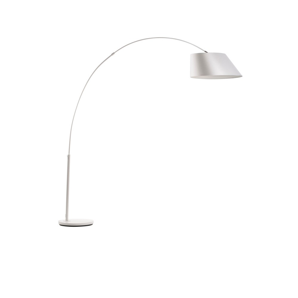 Biela stojacia lampa Zuiver Arc