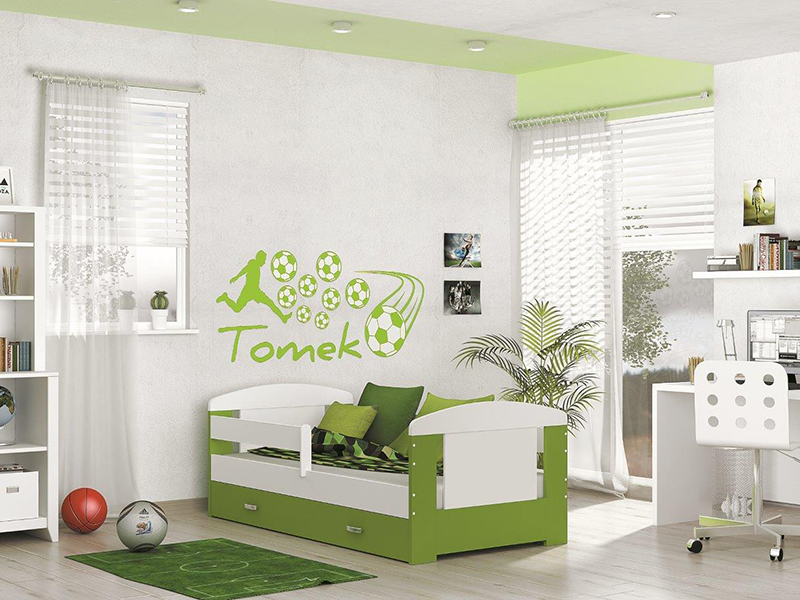 DETSKÁ POSTEĽ FILIP COLOR bez úložného priestoru   Farba: biela / zelená