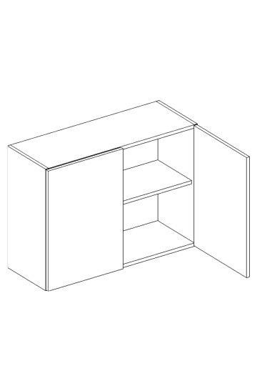 >> W80/58 horná skrinka 2-dverová MOREEN Cocobolo