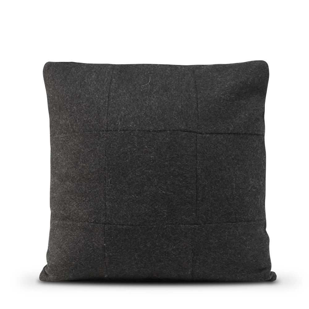 Čierna vlnená obliečka na vankúš HF Living Felt, 50×50cm