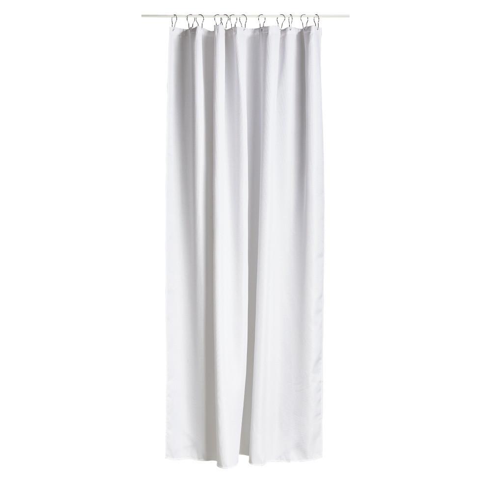 Biely sprchový záves Lux