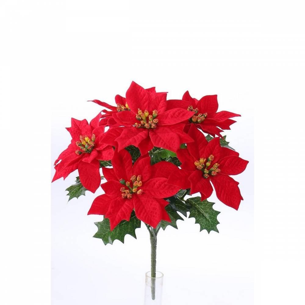 Umelá vianočná Poinsettia červená, 30 cm