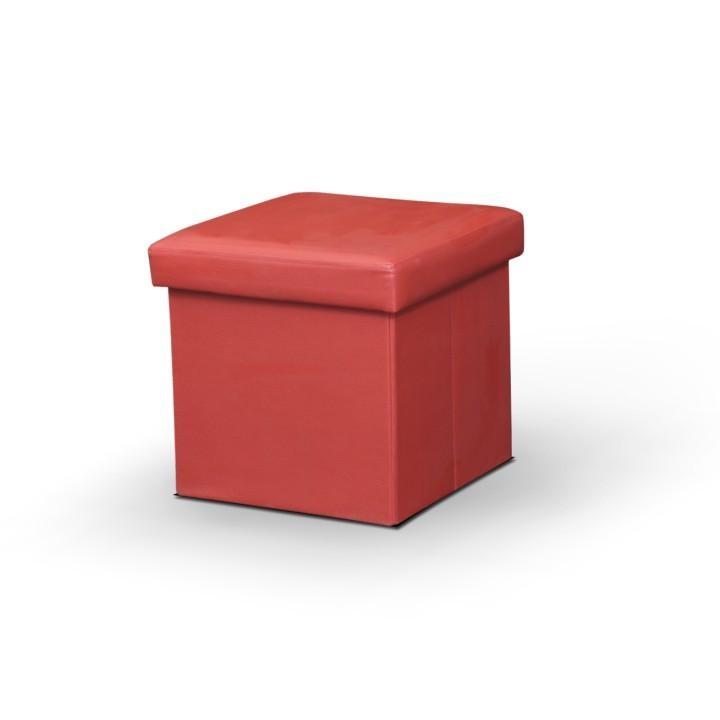 TEMPO KONDELA Taburetka, ekokoža červená, TELA NEW