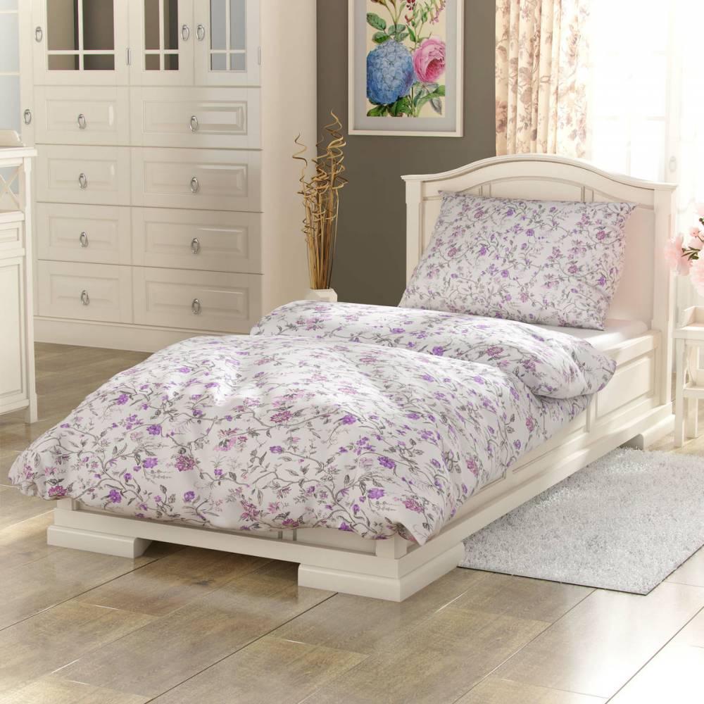 Kvalitex Bavlnené obliečky Provence Beáta fialová, 200 x 200 cm, 2 ks 70 x 90 cm