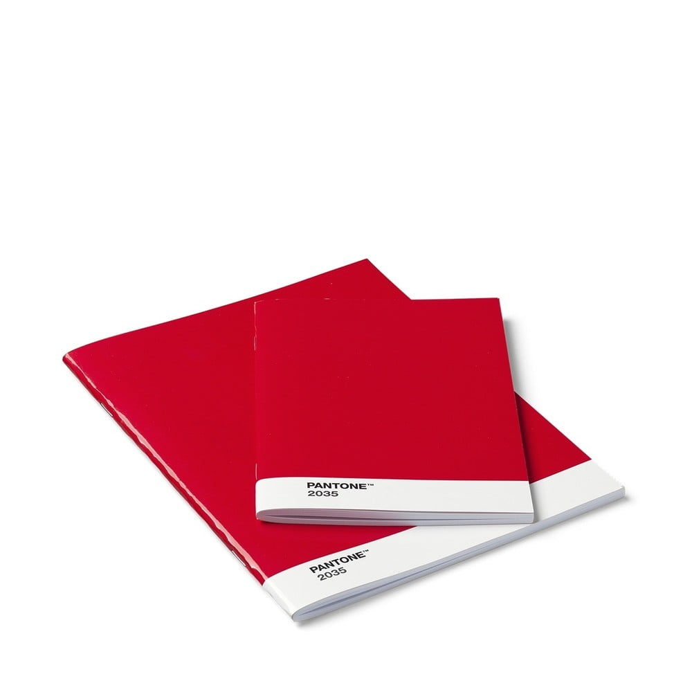 Sada 2 červených zápisnikov Pantone