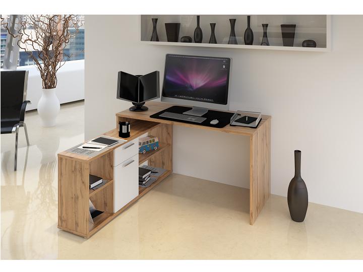 PC stolík Noe new (dub san remo + biela)