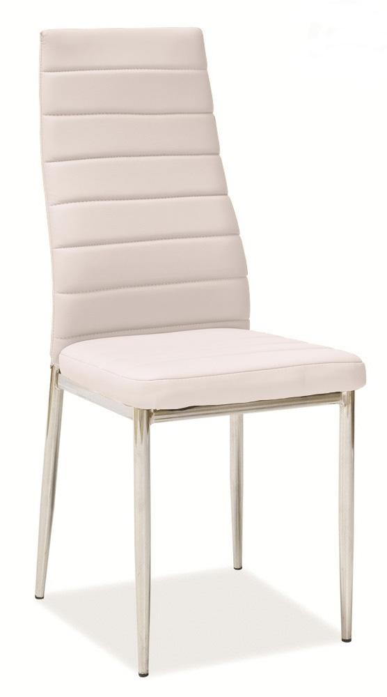 Jedálenská stolička HRON-261, sv. béžová/chróm