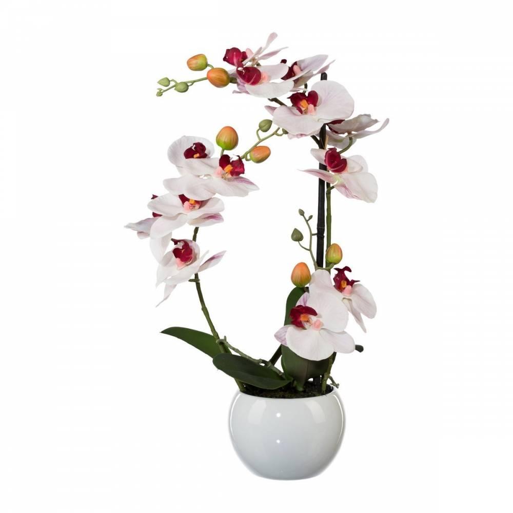 Umelá Orchidea v keramickom kvetináči biela, 42 cm 1118033-10