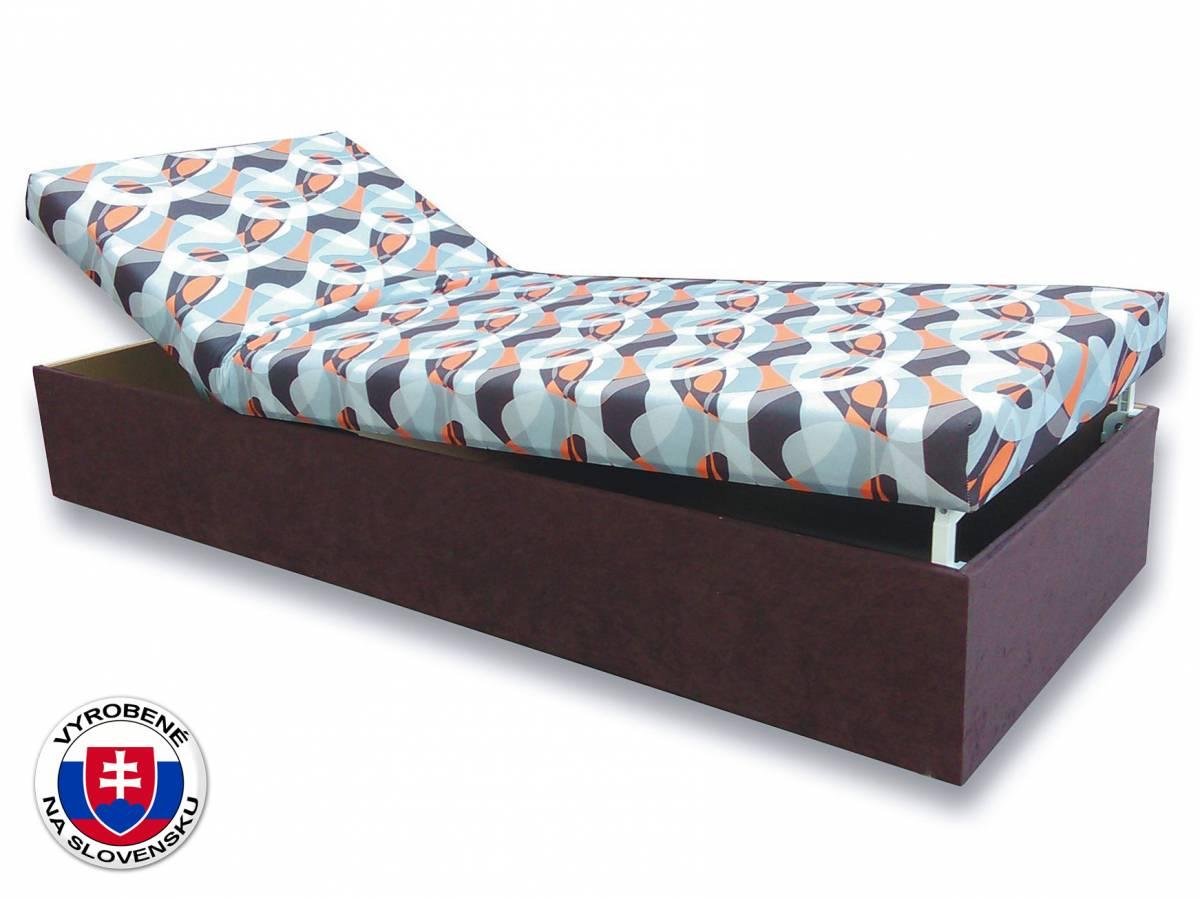 Jednolôžková posteľ (váľanda) 80 cm Darina (Tmavohnedá 40 + Kevin 13)