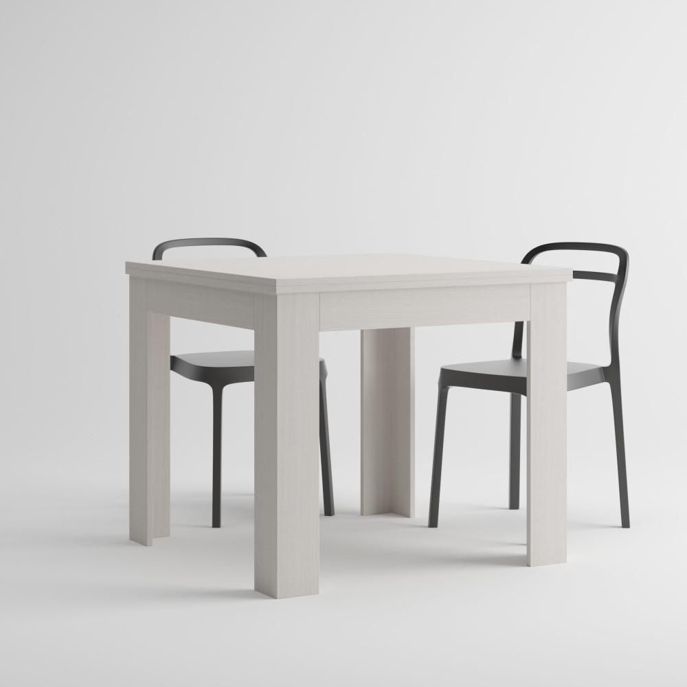 Biely rozkladací jedálenský stôl MobiliFiver Eldorado, dĺžka 90-180cm