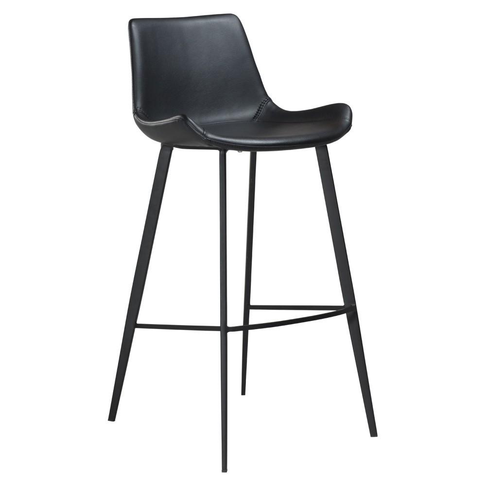 Čierna barová stolička DAN–FORM Hype