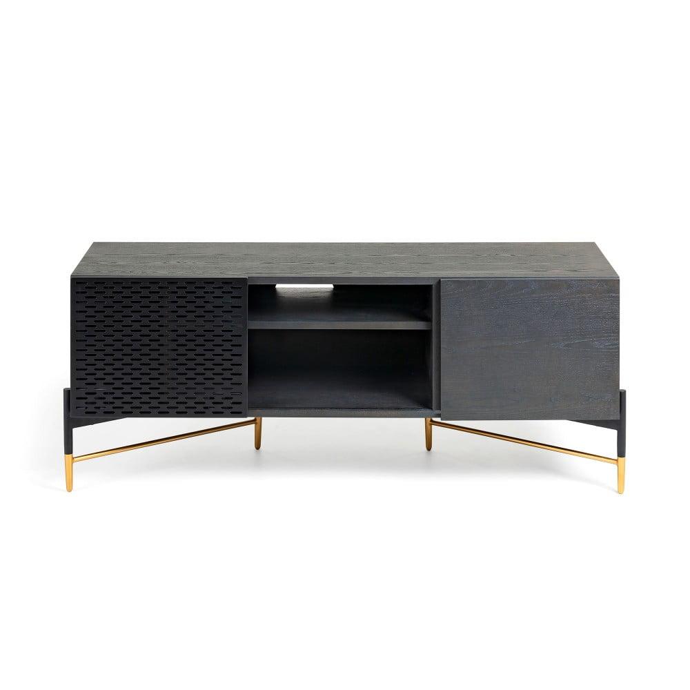 Čierny TV stolík La Forma Norfort