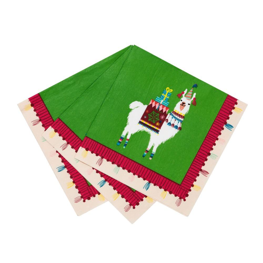 Sada 20 papierových utierok Talking Tables Lama, 33 x 33 cm