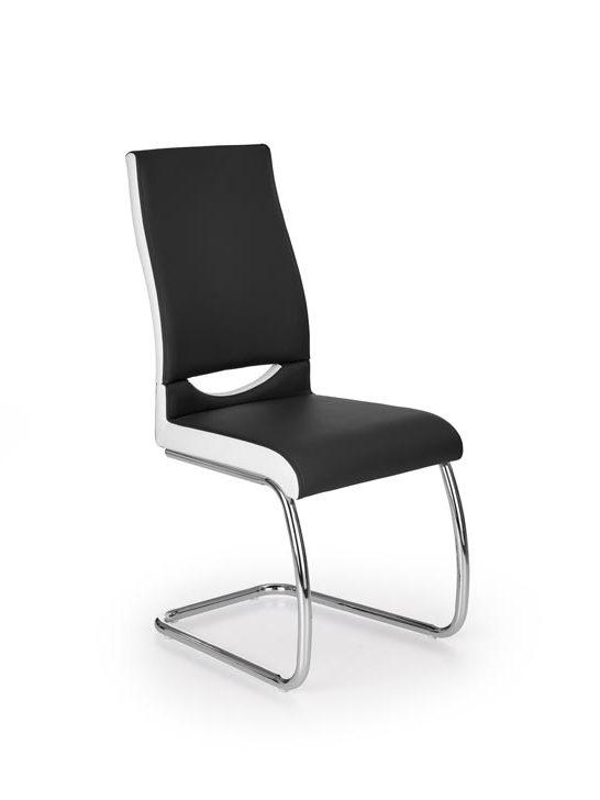 Jedálenská stolička K259 (čierna + biela)