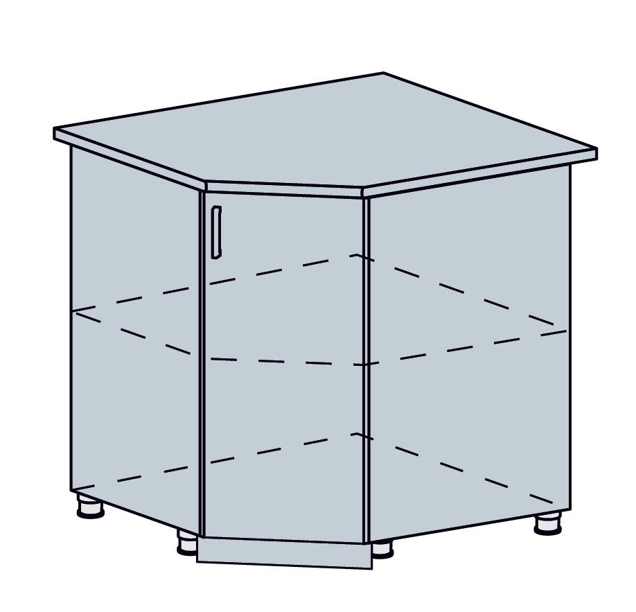 PROVENSAL dolná rohová skrinka 90DRS šedá
