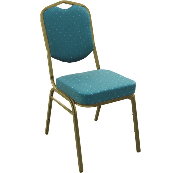 Stolička, stohovateľná, látka zelená/žltý rám, ZINA